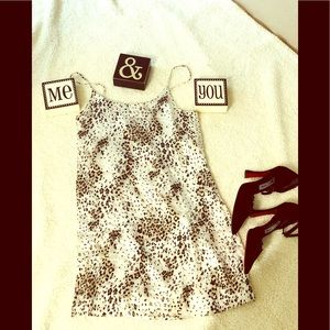 Alice + Olivia animal print mini dress . Size S